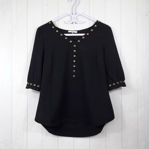 41 Hawthorn | stitch fix black blouse short sleeve